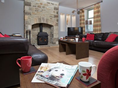 Rest and relaxation, complete with cosy woodburner