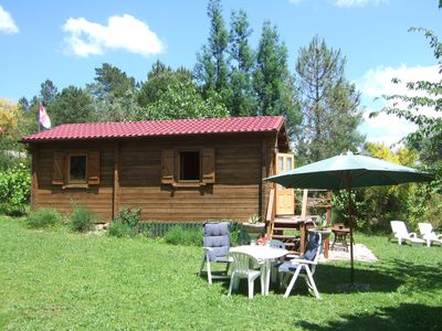 Photo for Wooden Chalet, detached house on large plot, quiet Quinta near Serra da Estrela