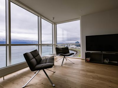 Photo for Luxury apartment downtown Reykjavik with stunning view over the city.