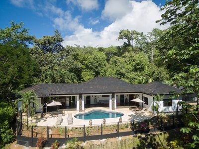 Photo for Luxury 3/3 pocket ocean view in rainforest of Uvita with pool, mins from beaches