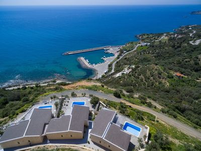 Photo for New luxury villa with Incredible sea view, private pool,near  beach and tavern