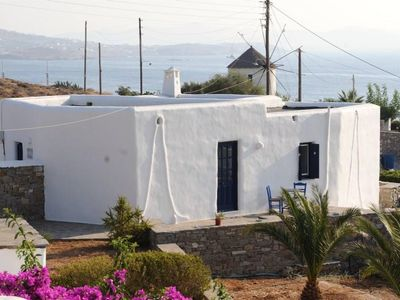 Photo for Cute Cycladic house near the sea with view