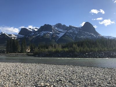 Canmore Mountain Views and Bow River