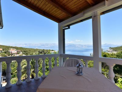 Photo for One bedroom apartment with terrace and sea view Cove Zarace (Gdinj) (Hvar)