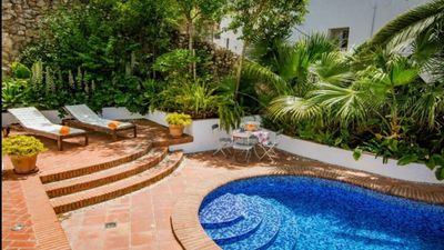 Photo for Stylish village house with great views, private pool and gorgeous garden
