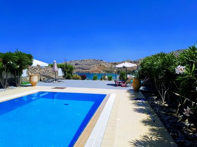 Photo for Luxury Villa with Stunning Unlimited Sea Views, close to Lindos