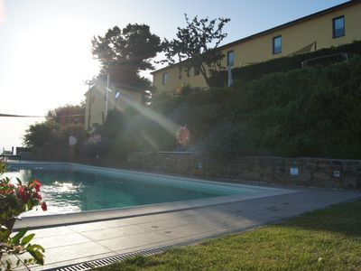 Photo for Apartment in country house, panoramic and quiet location, lots of rest with pool