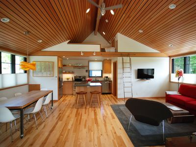 Photo for New Construction!  Modern And Tranquil Loft Studio In Downtown Bainbridge