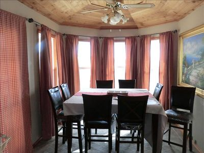 Eating-Dining off Kitchen Area-The views outside from here are wonderful!