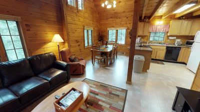 Photo for Secluded Log Home - Space for Families - Pet Friendly