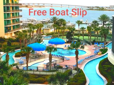 Photo for 🛑🛑LOW JULY RATES  8-11, 21-25, LAZY RIVER WITH WATER SLIDE,FREE BOAT SLIP
