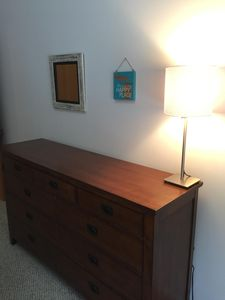 Dresser, chair (not pictured) in both bedrooms.  Two closets as well.
