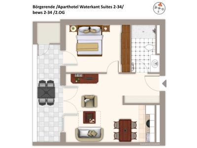 Photo for Bews2-34 Aparthotel Waterkant Suites 2-34 - Aparthotel Waterkant Suites 2-34