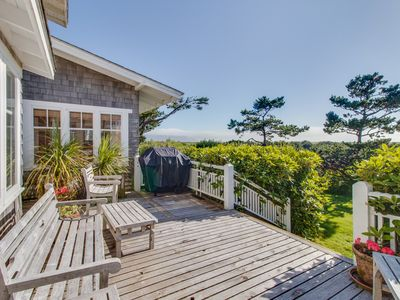 Photo for Spacious, waterfront home w/ expansive deck & modern comforts - steps to beach!