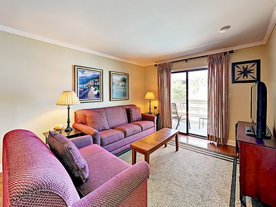 Living Area - Welcome to Hilton Head! This condo is professionally managed by TurnKey Vacation Rentals.
