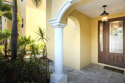 Front Entry and Walkway to Pool