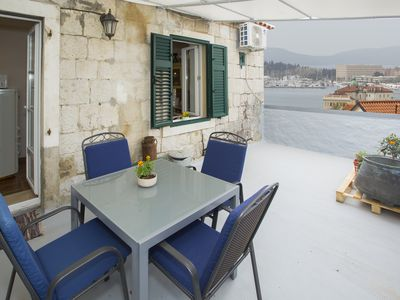 Photo for Beautiful antique apartment in center & seaview