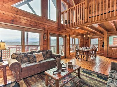 Photo for NEW! Pigeon Forge Cabin w/ Hot Tub, Deck & Views!