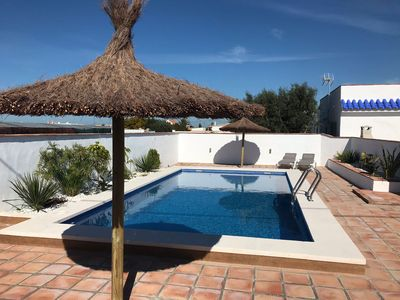 Photo for Apartment with pool and jacuzzi in El Palmar, 400 meters from the beach