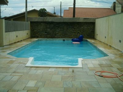 Photo for Beautiful corner house, barbecue by the pool and terrace at the 4 corners.