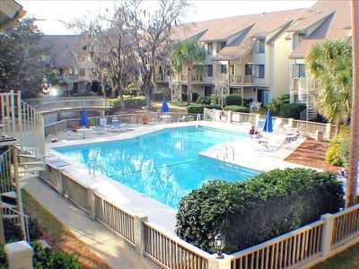 Photo for Courtside 77 -- Forest Beach -- Short Walk to the Beach -- 2 bedroom/2.5 baths