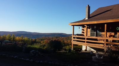Photo for Country Log Cabin, Quiet and Cozy, Beautiful Views all around you!