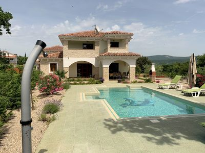 Photo for VILLA ANNA : 5* house, large heated pool, sea view, GYM, 900m from the sea