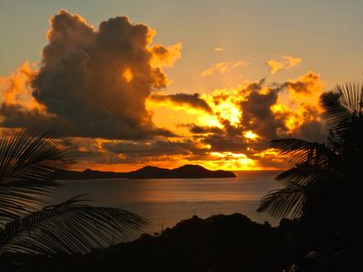 Sunrise over BVIs (taken from driveway)