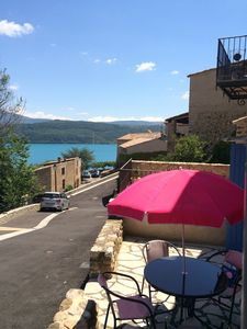 Photo for Village house overlooking the Sainte Croix du Verdon lake, beach nearby