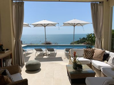Photo for Beautiful character cliffside villa with magnificent pool and amazing sea views!