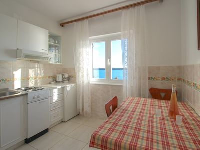 Photo for Apartment Libera, 2Pers., 20m to the beach, nice view