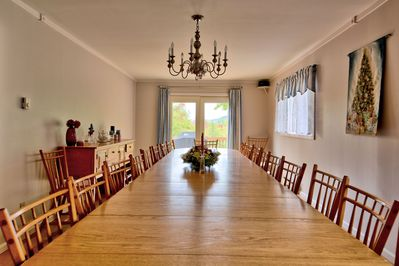 Room For the Whole family around the Dining Room Table