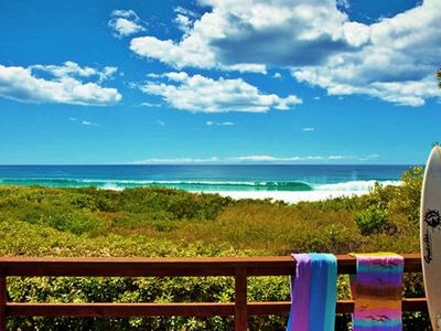 Photo for SURFSIDE on MOLLYMOOK BEACH absolute beachfront house for up to 9 guests