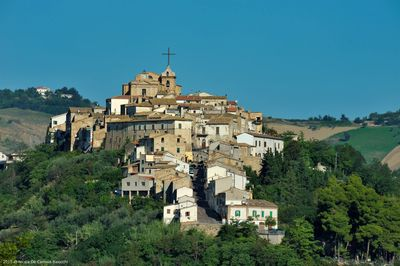 Our beautiful town. Guesthouse Casa da Carmine is under the cross!