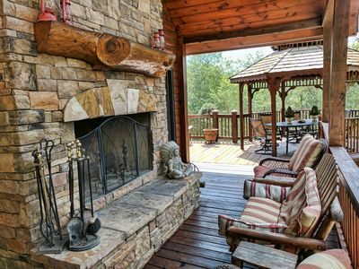 Photo for LUXURY LODGE 375 FT ON TOCCOA RIVER! Hot Tub, Pool Table, Theatre Room, Firepits