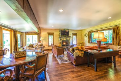 Beautiful Great Room awaits. Relax next to the fireplace, read a book or chill!
