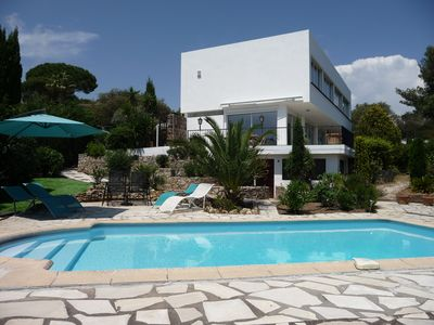 Photo for Golfe de St Tropez - Large Modern Villa + Private Pool + Sea View- Sleeps 11