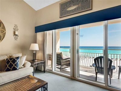 Enjoy a private balcony and a perfect view