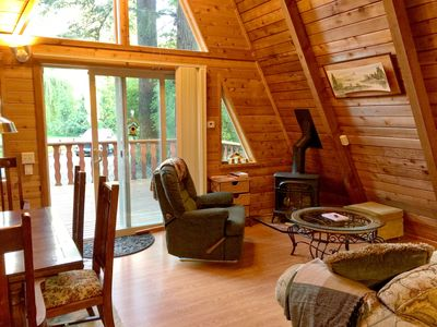 Photo for Lodging Cabin #45 – HOT TUB, FIREPLACE, BBQ, PETS OK, W/D, SLEEPS 10!