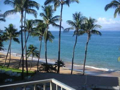 View from the lanai, looking down Kamaole II.
