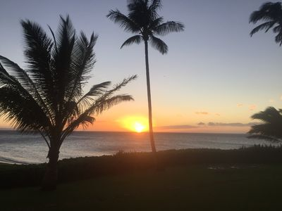 Photo for Oceanfront, ground floor condo with spectacular sunsets and ocean views