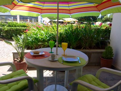 Enjoy your meals in the patio surrounded by beautiful flowers