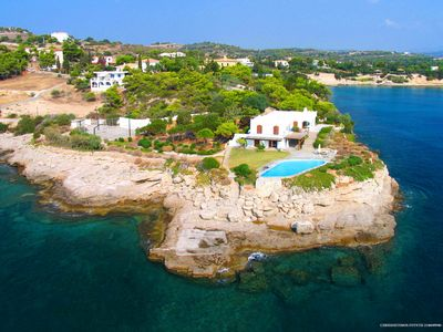Photo for Stunning Sea-side estate with swimming pool and mesmerizing twinkling sea views