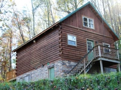 Photo for Beautiful Log Cabin For Romantic Getaways On 20 Acres In Logan, Ohio.