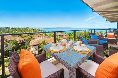 Amazing Panoramic Ocean and Wailea Beach View from M511 Regal Mandalay Terrace