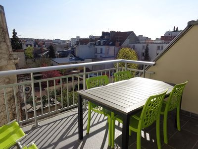 Photo for Cathedral area, modern apartment with an open air terrace + secured parking