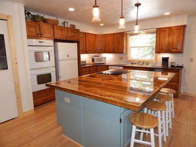 Who wouldn't love cooking in this beautiful farmhouse style kitchen!