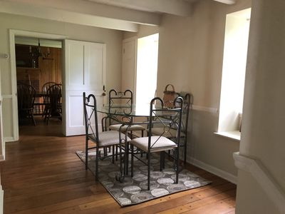 Breakfast nook off of the large eatin kitchen