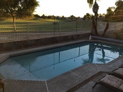 Photo for Relax in sunny Arizona with a heated pool and golfcourse view