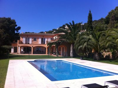 Photo for Magnificent sea view villa 12p. private pool 5mn beach walk